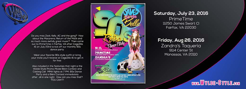 Wylde Style & Belle Vodka present Saved by the Belle 90s Retro Dance Party- getwylde.com